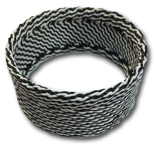 telephone wire bracelet, handwoven
